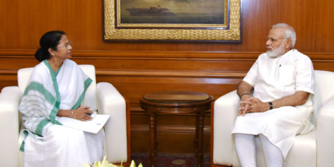 The Chief Minister of West Bengal, Ms. Mamata Banerjee calls on the Prime Minister, Shri Narendra Modi, in New Delhi on May 25, 2017.